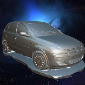 Artec3D scanned Car - Using Artec Leo